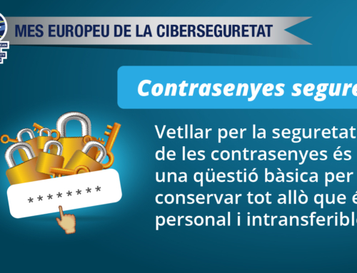 #CyberSecMonth: contrasenyes segures